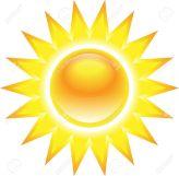 14164458-Brilla-el-sol-brillante-sobre-fondo-blanco-Foto-de-archivo